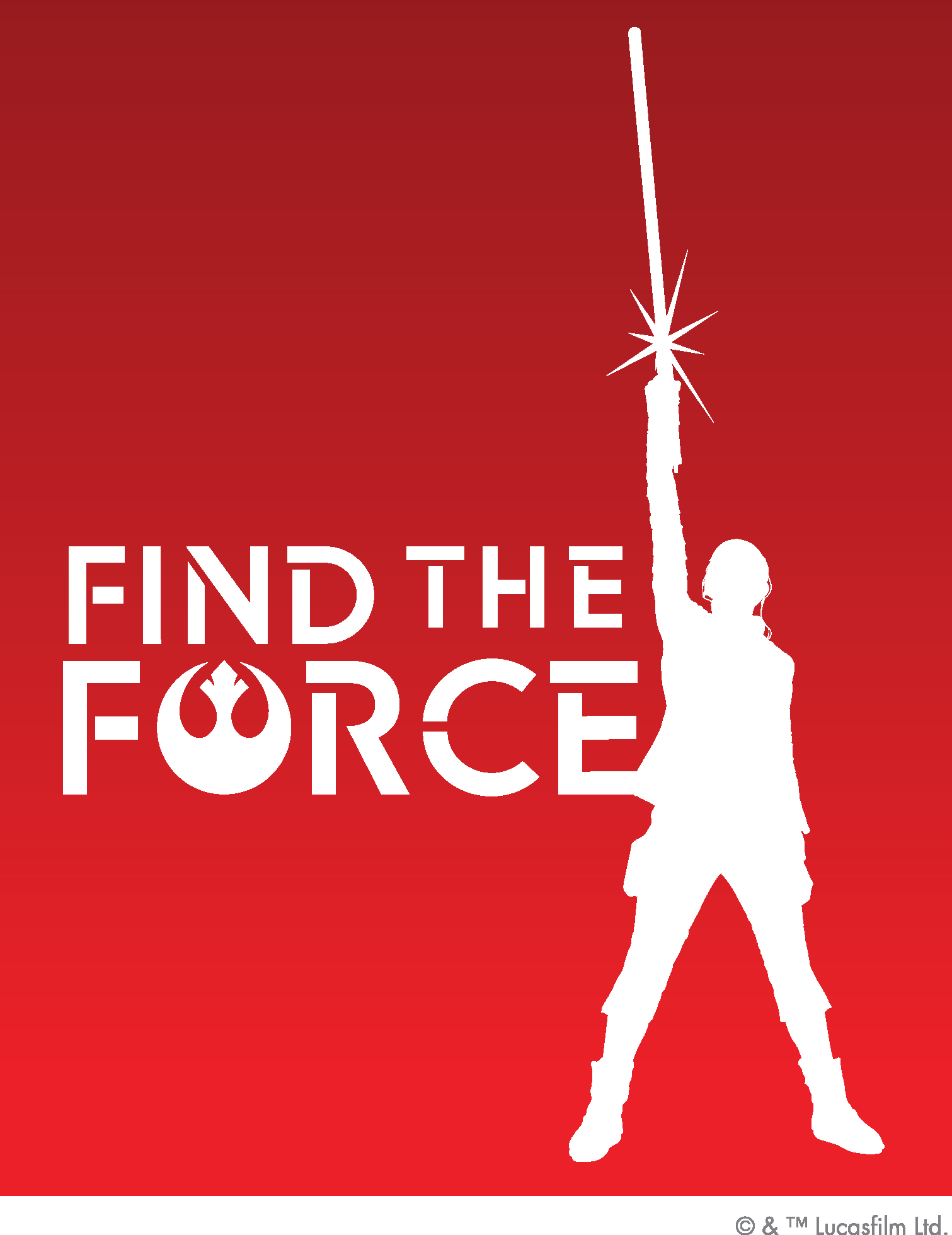 Disney and Lucasfilm today announced `Find the Force,` a global augmented reality event rolling out for `Force Friday II` (Sept. 1-3) to commemorate the worldwide launch of new products inspired by `Star Wars: The Last Jedi.` Fans can download the `Star Wars` app before heading to more than 20,000 retail locations worldwide to participate. For more information, visit http://www.starwars.com/findtheforce.