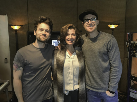 Ryan Stevenson, far right, is joined by producer Bryan Fowler and Amy Grant. (Photo provided by Merge PR)