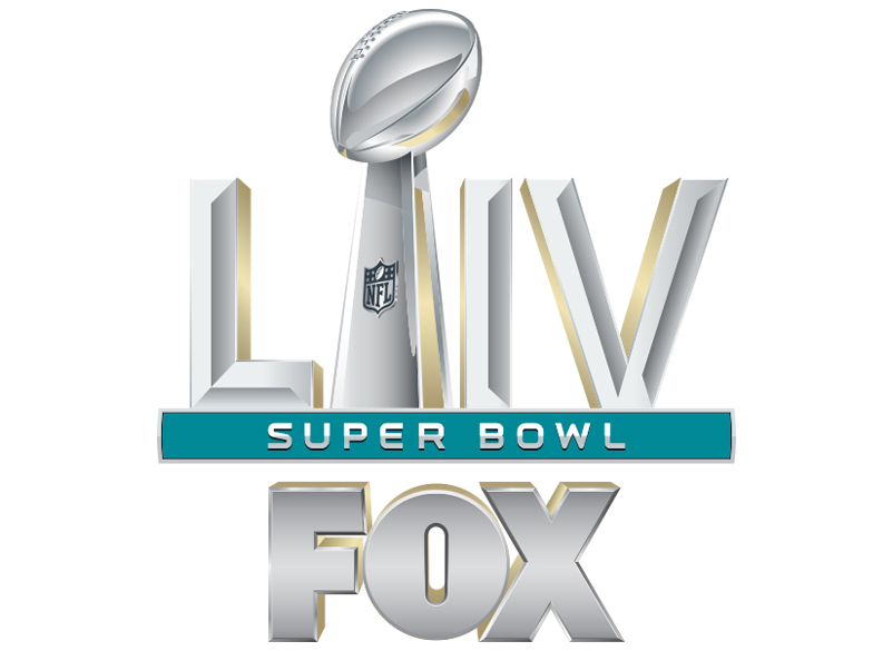Super Bowl 54 logo (©IMAGES COURTESY OF FOX SPORTS AND THE NATIONAL FOOTBALL LEAGUE)