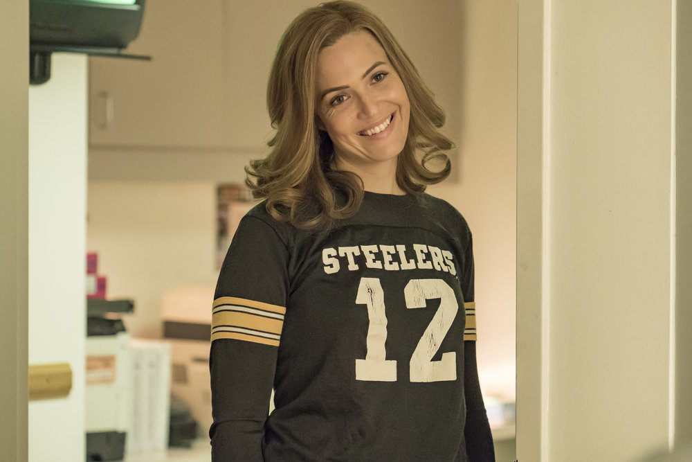 `This Is Us` `Super Bowl Sunday`: Mandy Moore as Rebecca. (NBC photo by Ron Batzdorff)