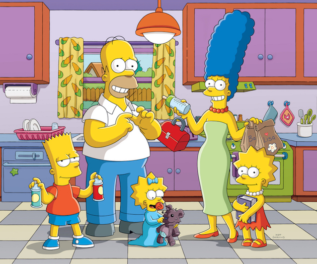`The Simpsons`: From left, Bart, Homer, Maggie, Marge and Lisa. (FOX photo; `The Simpsons` ™ and © 2017 TCFFC, all rights reserved)