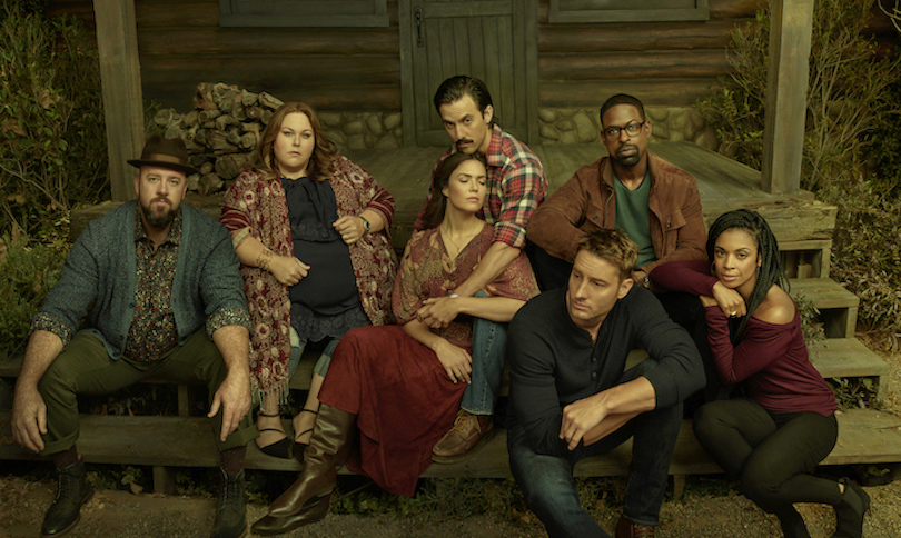 `This Is Us` season three. From left: Chris Sullivan as Toby, Chrissy Metz as Kate Pearson, Mandy Moore as Rebecca Pearson, Milo Ventimiglia as Jack Pearson, Justin Hartley as Kevin Pearson, Sterling K. Brown as Randall Pearson and Susan Kelechi Watson as Beth Pearson. (NBC photo)