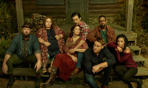 `This Is Us`: Pictured, from left: Chris Sullivan as Toby, Chrissy Metz as Kate Pearson, Mandy Moore as Rebecca Pearson, Milo Ventimiglia as Jack Pearson, Justin Hartley as Kevin Pearson, Sterling K. Brown as Randall Pearson and Susan Kelechi Watson as Beth Pearson. (Photo by NBC; ©2018 Annie Leibovitz)