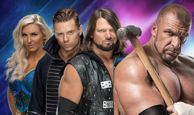 From left: WWE Superstars Charlotte Flair, The Miz, A.J. Styles and HHH. (Photo provided by Touchwood PR for Fan Expo Canada)