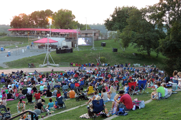 Pictured is a past `Free Family Movie Night` at Artpark.