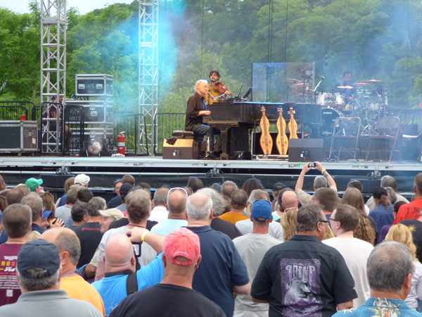 Bruce Hornsby on stage at Artpark.