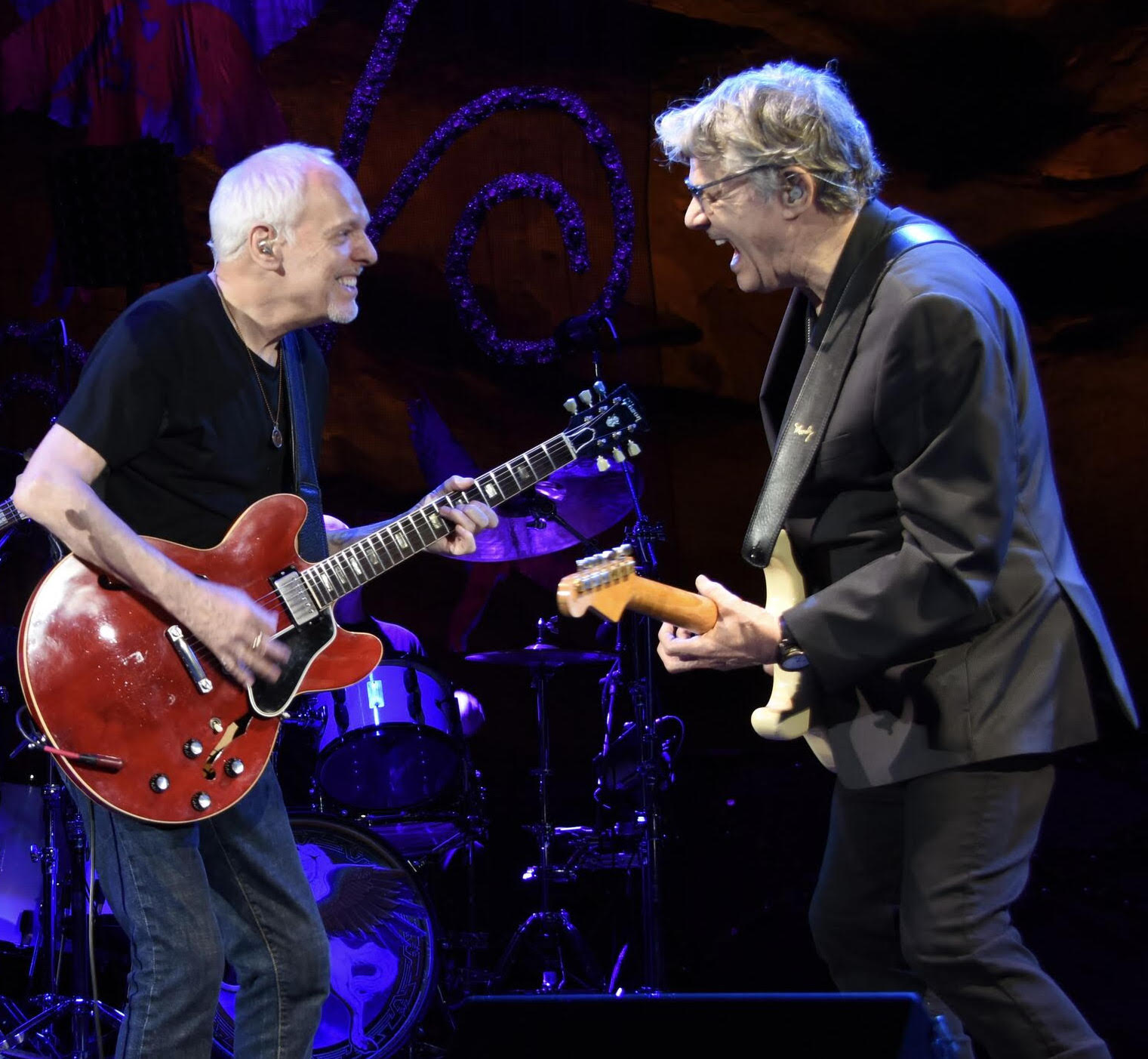 Peter Frampton, left, shares the stage with Steve Miller. (Photo courtesy of Artpark & Company).