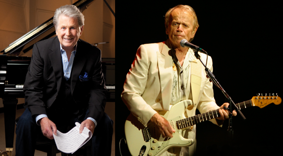 Two of the original Beach Boys - both musical legends in their own right - will hit the stage when Brian Wilson (left) and Al Jardine visit Artpark in Lewiston on Aug. 7. (Jardine photo by Trisha Campo)