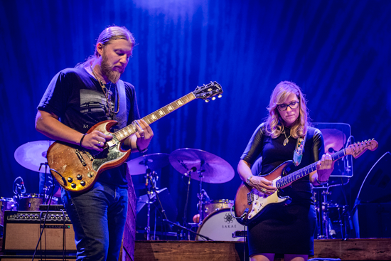 Tedeschi Trucks Band on stage. (Photo by Stuart Levine; provided by Artpark & Company)