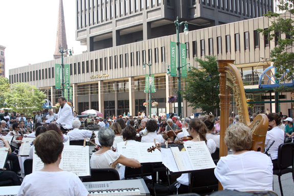 The Buffalo Philharmonic Orchestra in action. (Photo courtesy of the BPO)