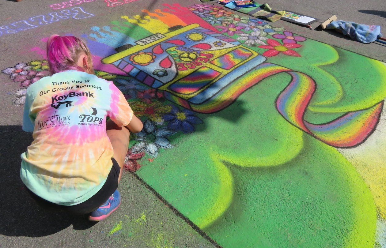 The public is invited to chalk their own walks. (Photo courtesy of the LCA)