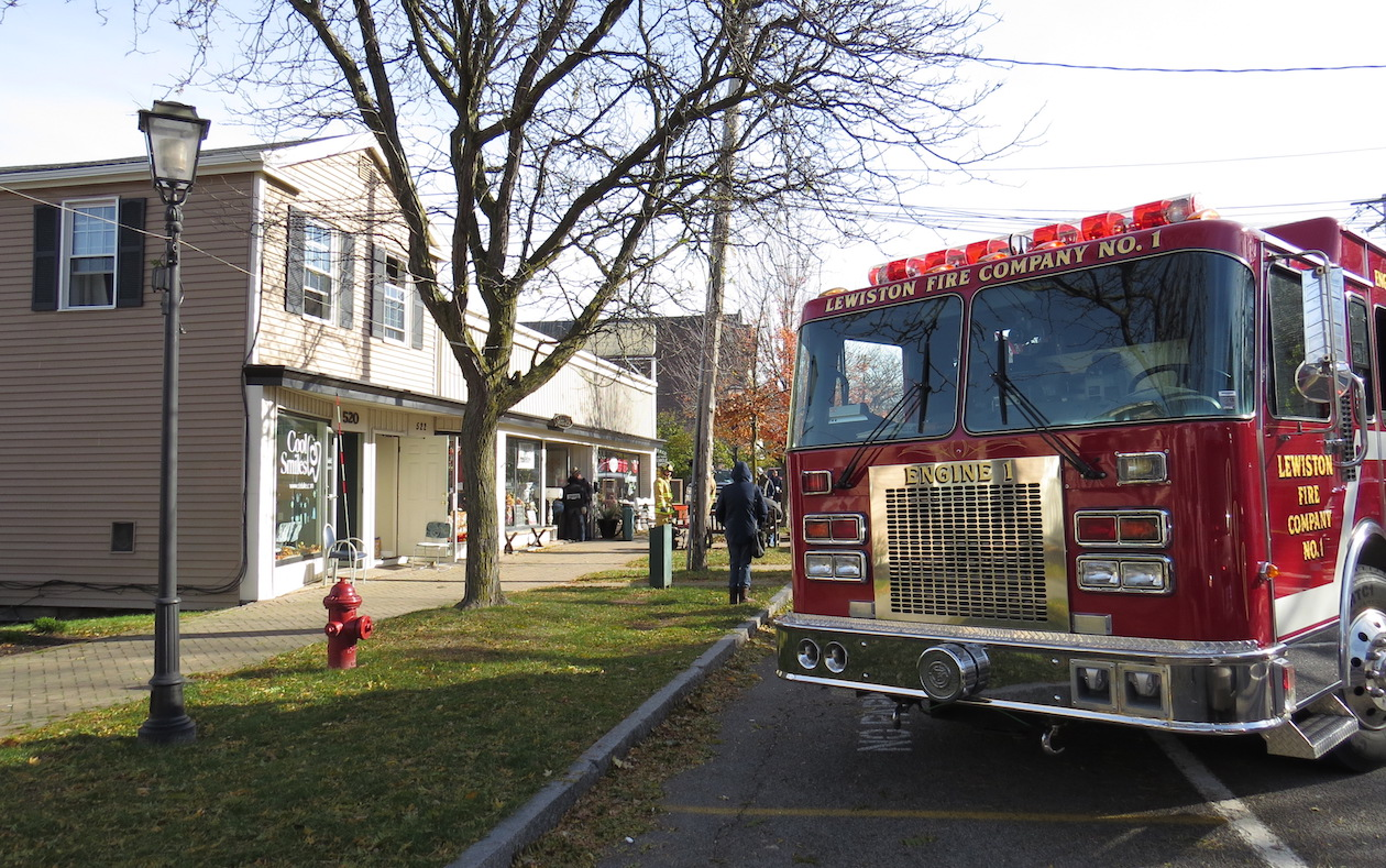 Fire crews onsite in the 500 block of Center Street in the Village of Lewiston.