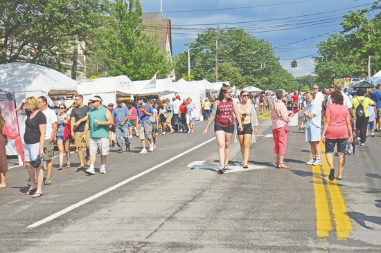 The Lewiston Art Festival offers colorful art, created pieces, music, food, events for children and prizes for top creators. (Photos courtesy of the Lewiston Council on the Arts)
