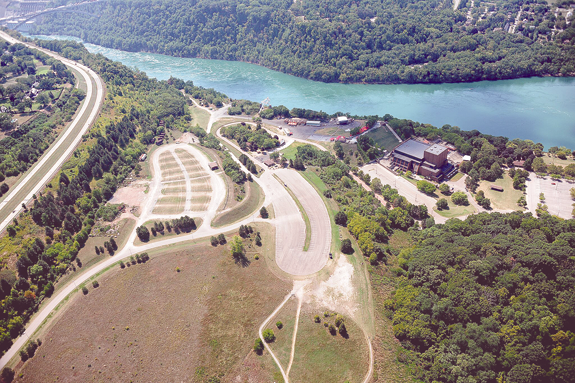 Shown is an aerial view of Artpark State Park in Lewiston. (Photo courtesy of Artpark & Company)