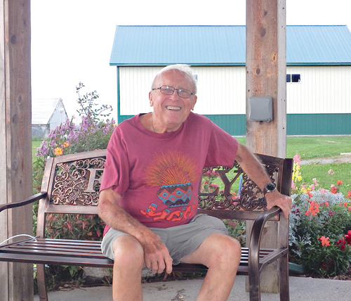 Glenn Wienke sits in the gazebo that will hold live entertainment for young and old during Autumn Fest, Oct. 5-6.