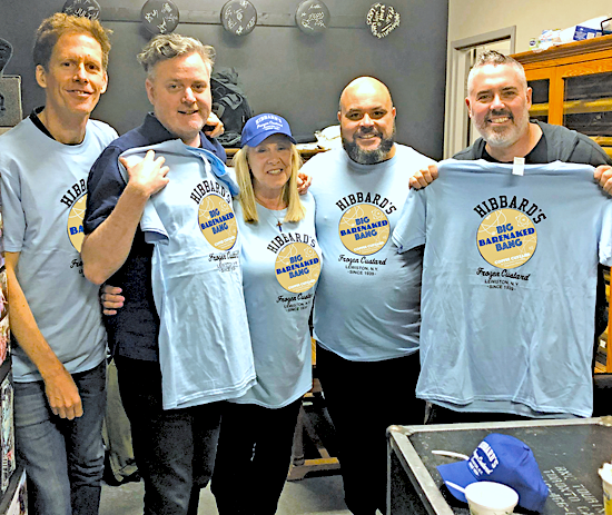 Barenaked Ladies is teaming with Hibbard's Original Frozen Custard. Pictured with Kristen Trunzo are BNL's Jim Creeggan, Kevin Hearn, Tyler Stewart and Ed Robertson.