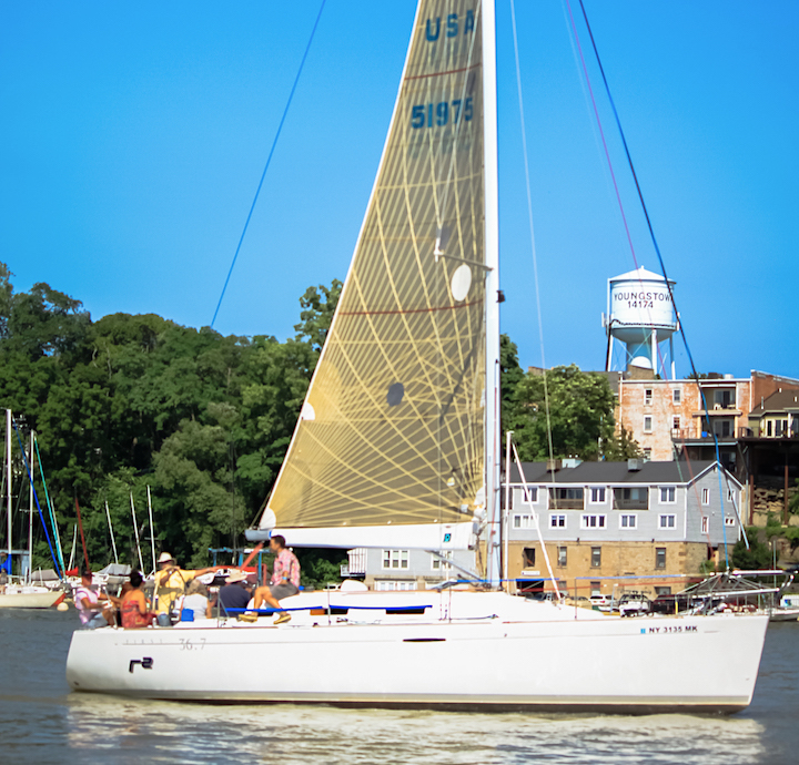 One of the many boats in last year's Jack Beatty Memorial Hospice Cruise & Clambake took participants for an afternoon sail. The 2018 event is planned is planned for July 13. Registration is now open.