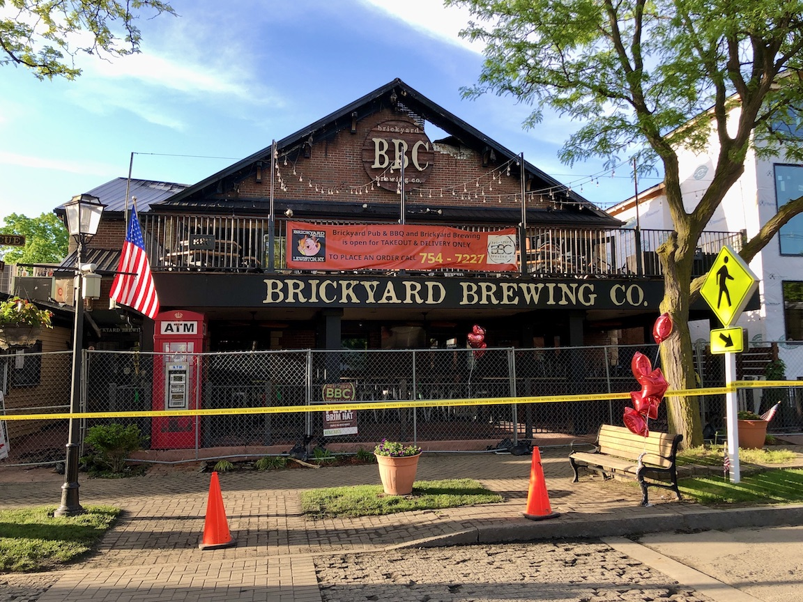 A Tuesday night fire severely damaged the Brickyard Brewing Company in Lewiston.