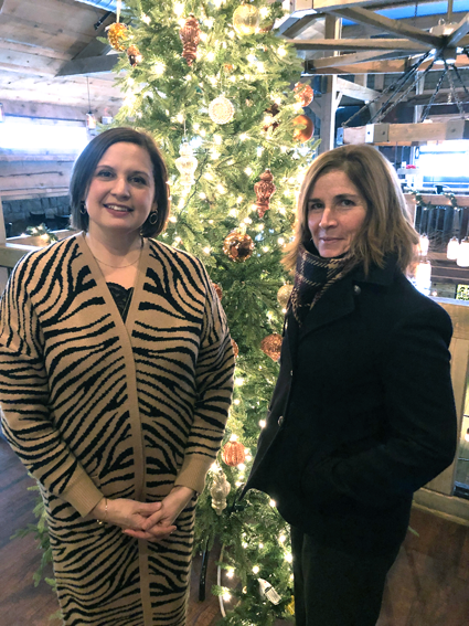Pictured at the year-end breakfast, from left, Niagara River Region Chamber of Commerce President Jennifer Pauly, and Christine O'Hara, chairwoman of the board of directors.