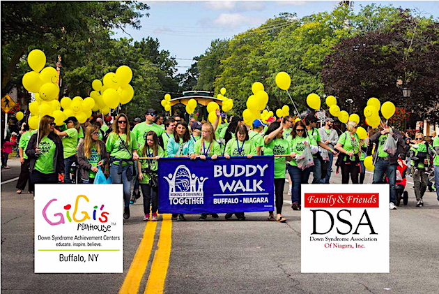 Pictured is a past Family & Friends Down Syndrome Association of Niagara Inc. Buddy Walk of Buffalo/Niagara event. (Submitted photo)