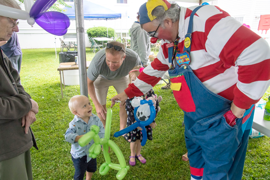 Donuts the Clown will celebrate `Clown Week` with local appearances in Niagara Falls and at the Village of Youngstown community picnic. (Photos by Wayne Peters)