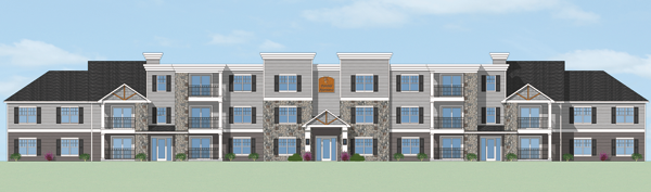 Pictured is an artist's rendering of 765 Fairchild Place provided by Sutton Architecture. This is a new version of what was previously accepted.