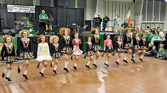 The McCarthy School of Irish Dance at the AOH Niagara Falls St. Patrick's Day celebration. (Photo by Terry Duffy)