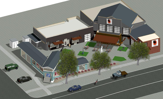 Pictured is an artist's rendering of the potential `Gallo 2` and Fourth and Center streets plaza remodel. The property is located at 402 Center St., in the Village of Lewiston. (Images courtesy of Giusiana Architects & Engineers