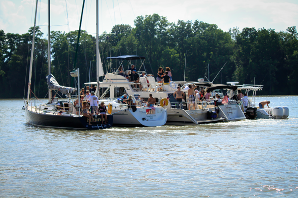 Boaters enjoy a beautiful day on the water during The Jack Beatty Memorial Hospice Cruise and Clambake at the Youngstown Yacht Club. The event is held annually to benefit Niagara Hospice.