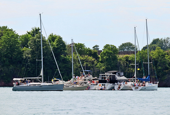 More than 260 participants in the Jack Beatty Memorial Hospice Cruise and Clambake enjoyed a beautiful day on the water July 13. (Photo by Victoria DeVantier)