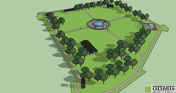 Pictured here and below are an artist's renderings of the Village of Lewiston's conceptual plan for Academy Park.