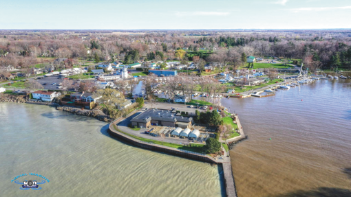 A view of the Wilson Harbor area. (Photo by Kevin and Dawn Cobello, K&D Action Photo and Aerial Imaging)