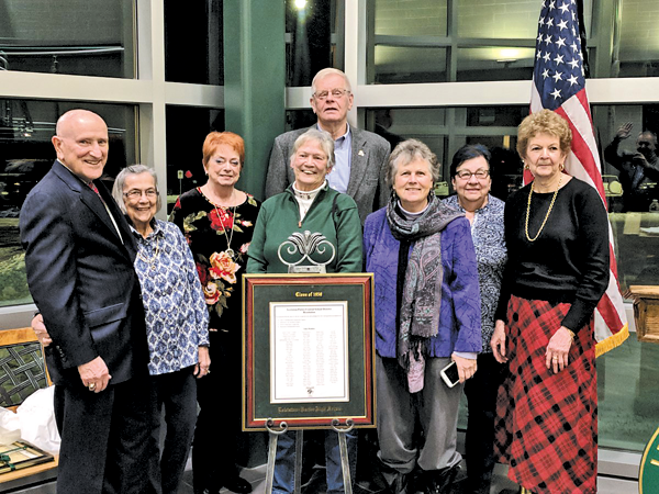 Members of the Lewiston-Porter Class of 1958 were honored Tuesday by the Board of Education and district officials. (Lewiston-Porter photo)