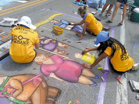 The KeyBank Chalk Walk Competition will be a highlight of this year's event.