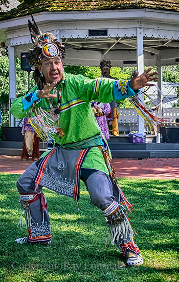 David Smith, of the Mohawk Nation, demonstrates the Iroquois smoke dance at an event in Lewiston.