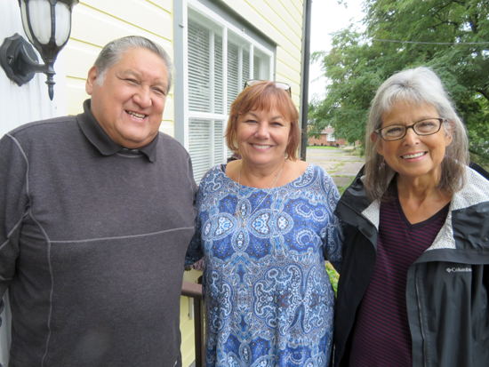 Pictured, from left: Neil Patterson, Irene Rykaszewski and Francene Patterson.