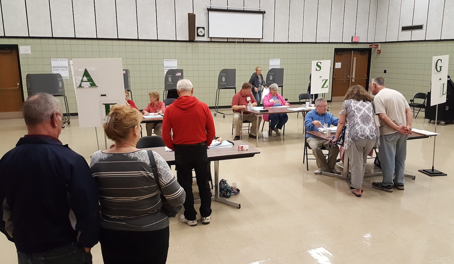 Lewiston-Porter voters cast their ballots Tuesday in the Community Resource Center. (Photo by Terry Duffy)