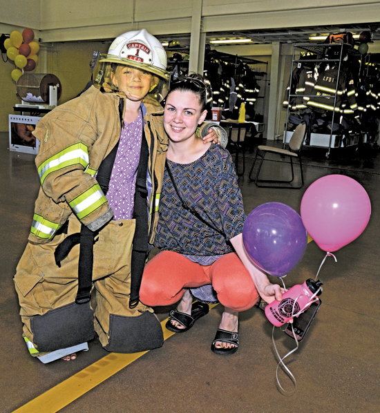 Scenes from last year's Lewiston No. 1 open house. Activities included open burn events, demonstrations, a visit from the LPD K-9 unit and fire house tours. (File photos)