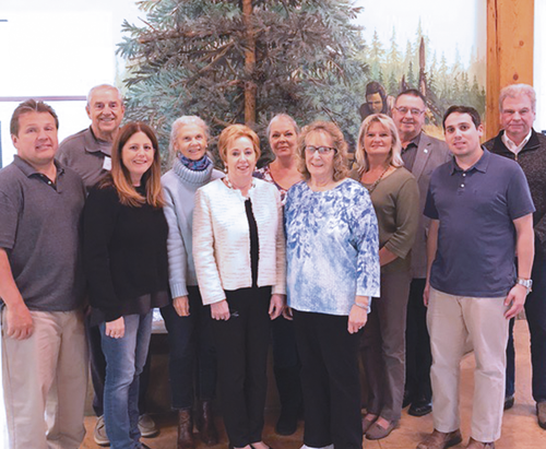 Members of the Bicentennial Committee, from left: Vince Schiffert, Bill Geiben, Chairperson Leandra Collesano, Claudia Marasco, Mayor Anne Welch, Eva Nicklas, Treasurer Marjorie Maggard, Secretary Donna Garfinkel, Vice Chairperson Ken Slaugenhoupt, Matt Duffy and Paul Calkins.