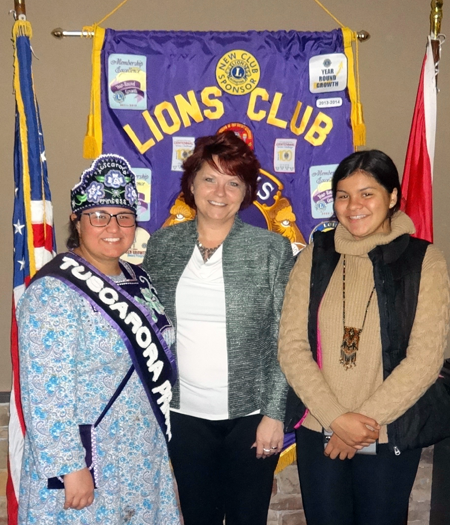 Pictured, from left: SieAnna Hoover, Lion Regina Cecconi and Quinna Hamby.