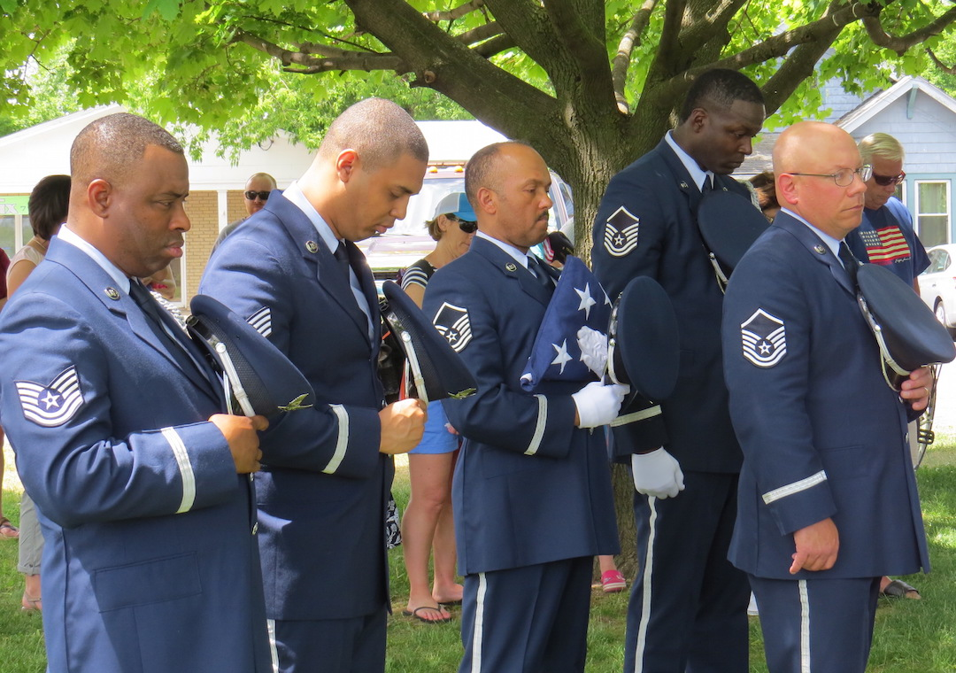 The Color Guard of the 914th Airlift Wing at the Niagara Falls Air Reserve Station participated in last year's Memorial Day ceremony in Lewiston.