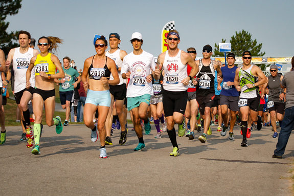 Runners in last year's Mighty Niagara Half Marathon head out on the course. This year's race, held in conjunction with The Hospice Dash 5K, will be held Sept. 15. All proceeds benefit Niagara Hospice.