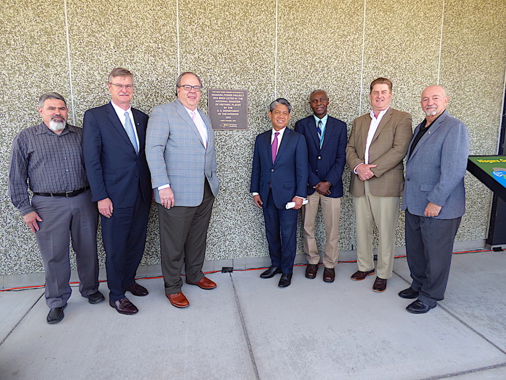 Local officials joined with NYPA leaders to unveil a new plaque on Tuesday.