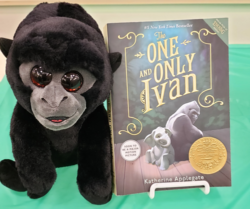 Katherine Applegate's `The One and Only Ivan` is this year's `One District, One Book` winner. The selection was revealed at a festive event inside the Lewiston Public Library. (Submitted photos)