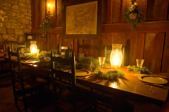The Youngstown Garden Club will decorate the 1726 French Castle for `Castle by Candlelight,` Dec. 8 and 15. Here is an example of décor from past years. (Photo by Wayne Peters)
