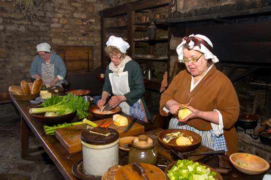 Try your hands at open-hearth cooking during French Heritage Day. Old Fort Niagara is offering an open-hearth cooking workshop using 18th-century recipes, tools and techniques. The class is open to anyone, regardless of cooking or fire-making skills, and includes enjoying the meal once it's finished. Niagara County Historian Kate Emerson will be the instructor. (Photo by Wayne Peters)