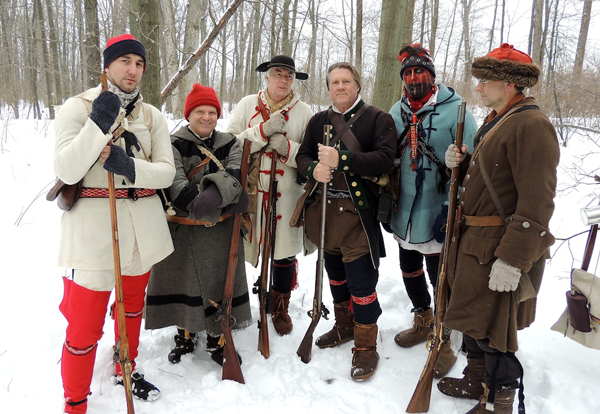 Old Fort Niagara's `Winter Woods Battle,` set for Feb. 17, offers visitors a chance to mingle with re-enactors and enjoy hot chocolate at a winter camp following a skirmish between the French and British, circa 1750. (Photo by Geoff Harding)