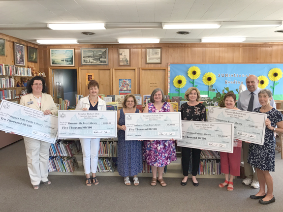 On Wednesday, Sen. Rob Ortt awarded five Niagara County libraries $35,000 in state education funds.