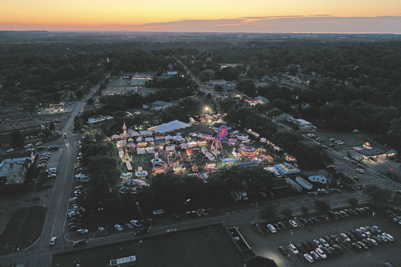 Lewiston will be without the majestic Peach Festival `skyline` this summer. The Kiwanis Club decided to cancel the annual event due to restrictions related to the coronavirus. (File photo by K&D Action Photo and Aerial Imaging)