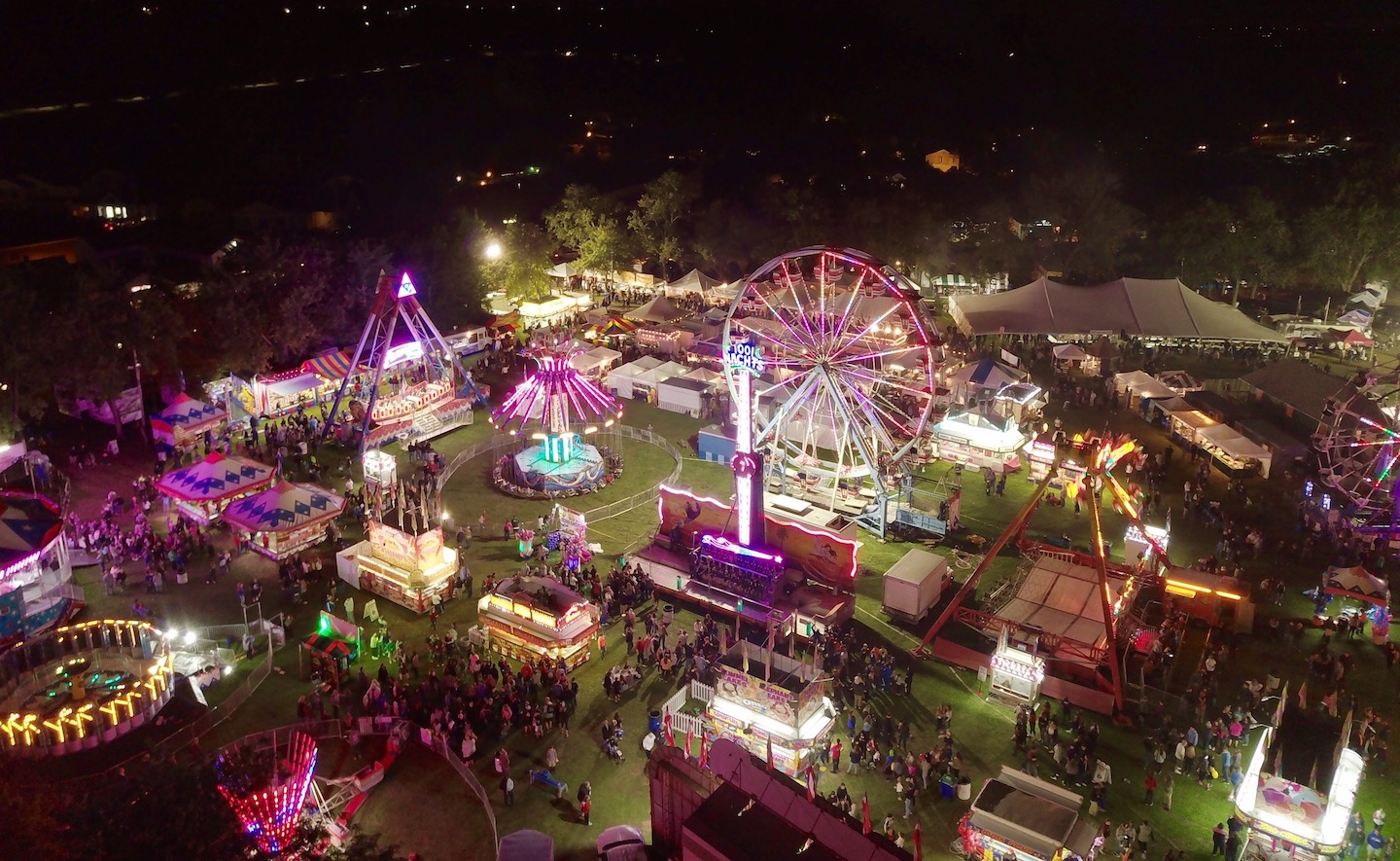 An aerial view of the Peach Festival by Graeme Litt.